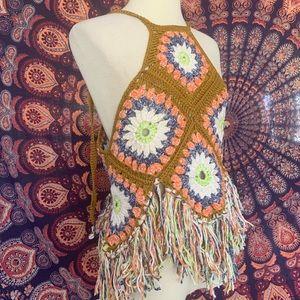 Free People Crochet Tassel Festival Tank M/L